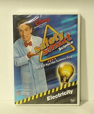 Safety Smart Science with Bill Nye the Science Guy: Electricity (DVD, 2009) NEW