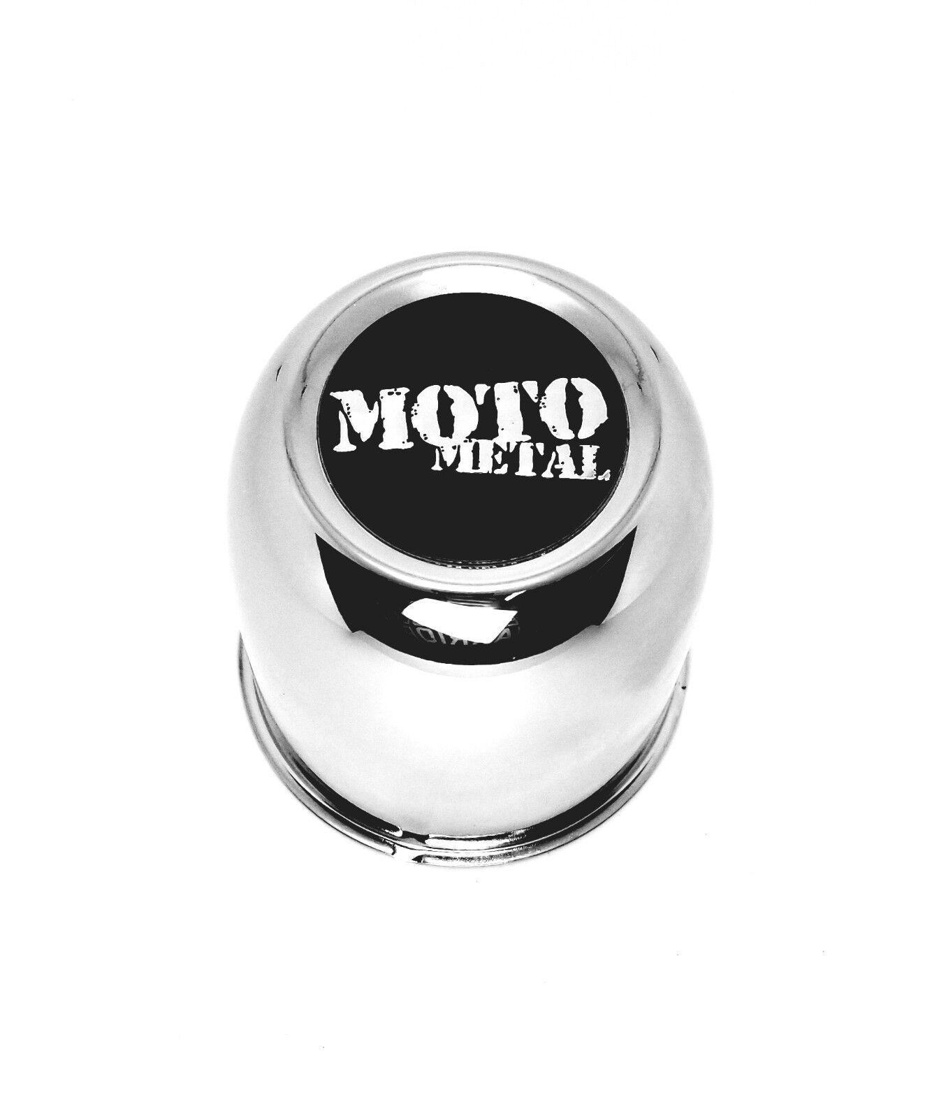 "3.25"" Chrome Push Thru Center Cap Fits 5x4.5 5x5 Wheels C116 w/ Moto Metal Logo"