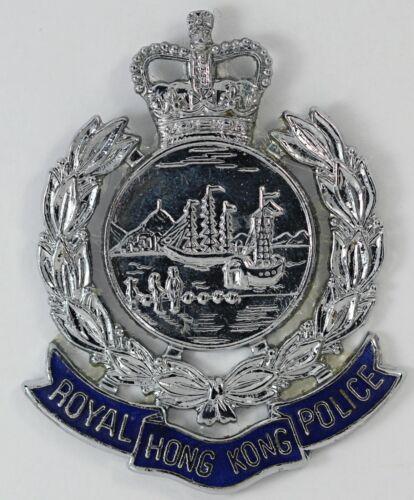 Royal Hong Kong Police Officer Badge - Blue Ribbon with Crown / Obsolete Badge