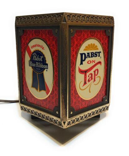 Vintage Pabst Blue Ribbon Beer On Tap Gibson Girl Cash Register Lamp Light Sign
