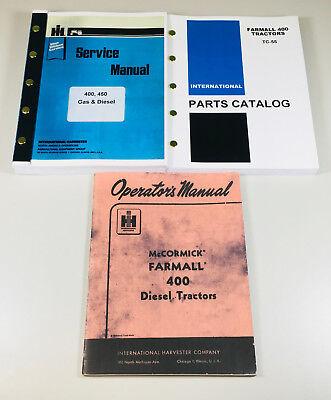 International Farmall 400 Gas Diesel Tractor Service Parts Operators Manual Ih