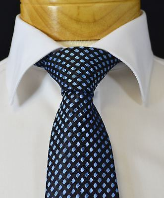 Extra Long Black and Light Blue Diamonds Men's Tie - Light Blue And Black