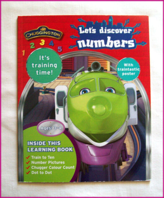 CHUGGINGTON - LETS DISCOVER NUMBERS Learning Activity Book - Ages 3 to 4 - New