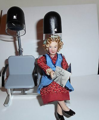 1:12  Porcelain Lady Doll With Rollers In Hair Scale 1