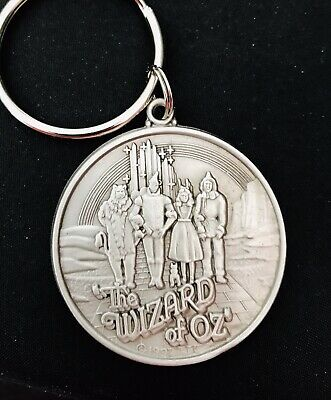 Pewter WIZARD OF OZ Dorothy Wicked Witch Tin Man Scarecrow Lion Metal Keychain - Witch Wizard Of Oz