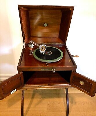 Antique Pathe Saphone Orpheum Model Victrola Phonograph Saphire Ball Gramophone