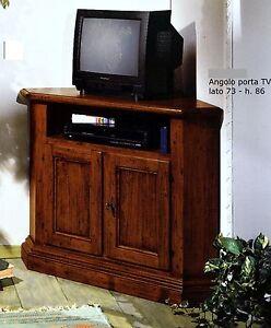 MOBILE ANGOLO PORTA TV IN LEGNO CON 2 ANTE FIN. NOCE xSOGGIORNO SALA ...