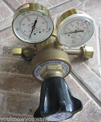 Fisher Scientific 10-572c Inert Gas Pressure Gauge Regulator