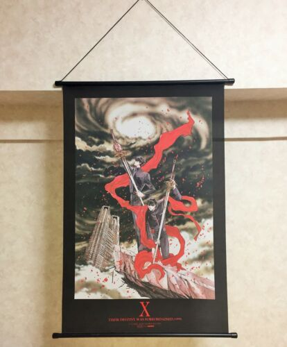 NEW Rare CLAMP X/1999 Kamui x Fuuma Tapestry Wall Scroll Poster Official Japan