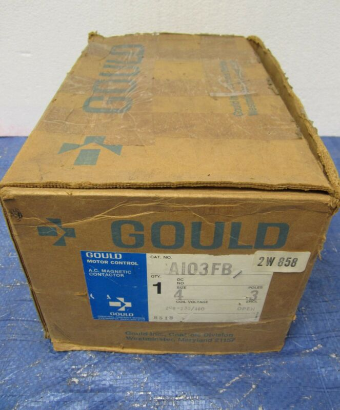 Gould Size 4 Open AC Magnetic Contactor Model A103F 600 VAC Max 3 Pole - NIB!!!