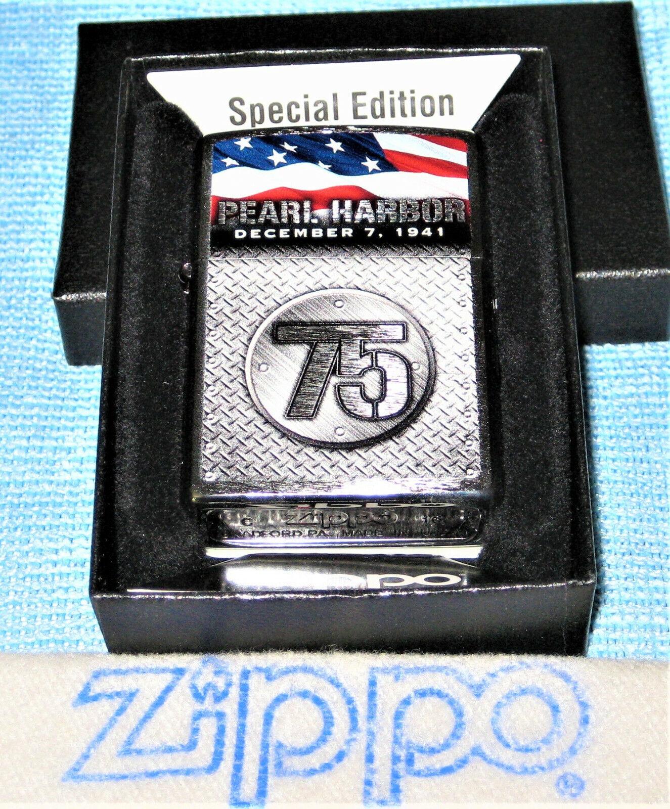 ZIPPO MILITARY Lighter 75th ANNIV PEARL HARBOR Sealed 29176