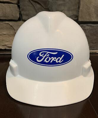Ford Motor Logo Workers Hard Hat Safety Helmet Construction Msa Med Adjustable