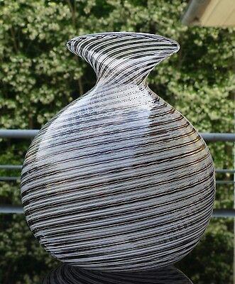 Seltene Kristallglas Vase von Goebel mit Original Label und Signatur !!!