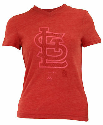 Majestic MLB Youth Girl's St. Louis Cardinals Tri-blend Slider -