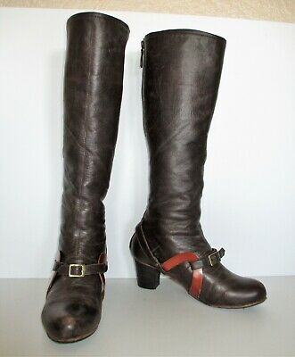 Coupleof Anthropologie Boots Size 38 Women brown leather knee high