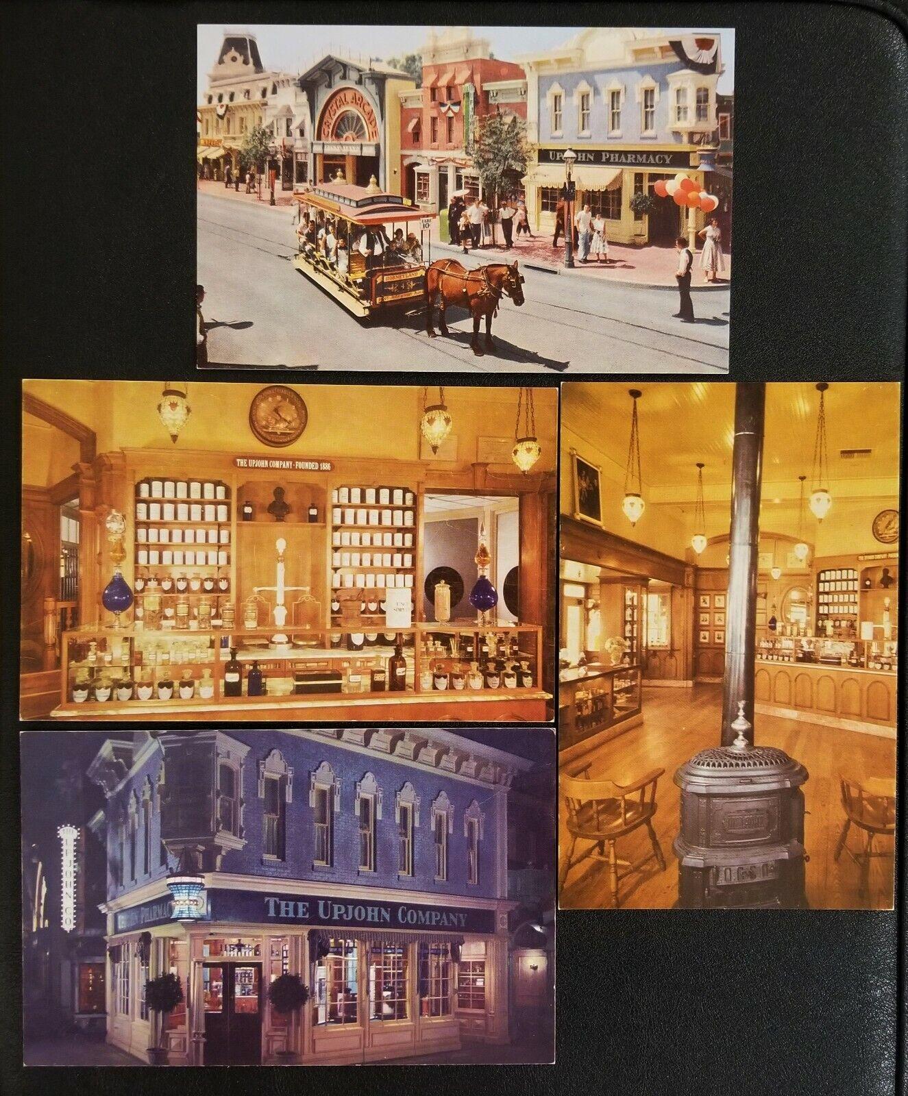 Disneyland Postcards 4 Consecutive Numbers Upjohn Not Mailed Disneyana - $2.00