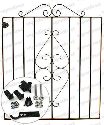 Wrought Iron Gate Galvanised And Powder Coated Fixings Included 3 ft High