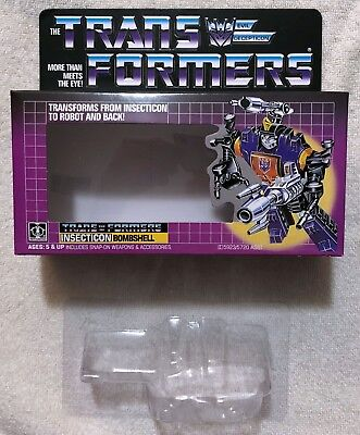 TRANSFORMERS G1 INSECTICONS BOMBSHELL BOX, MANUAL, CARDBOARD BACK, & BUBBLE NEW!