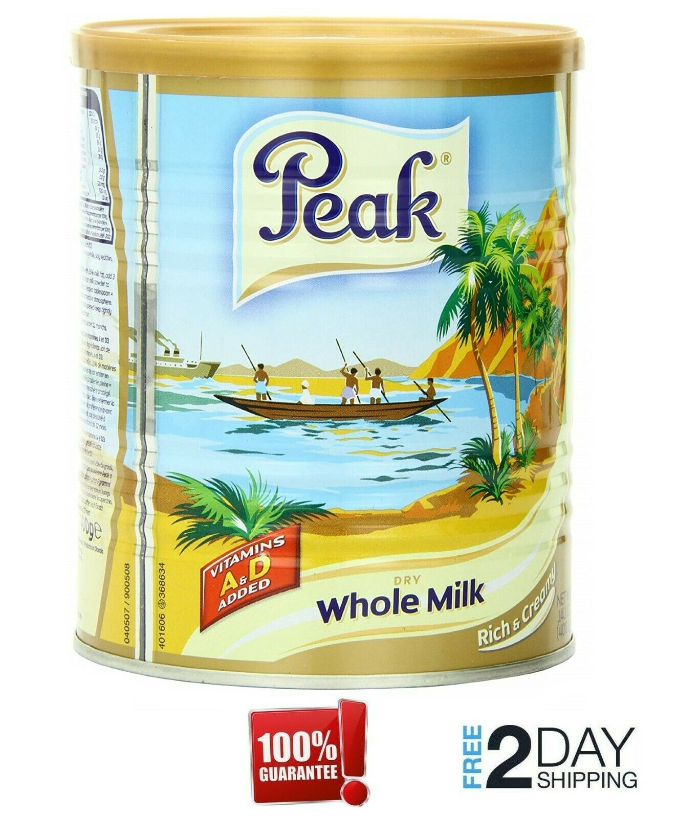 Peak Instant FullCream Dry Whole Milk Powder Assorted Sizes