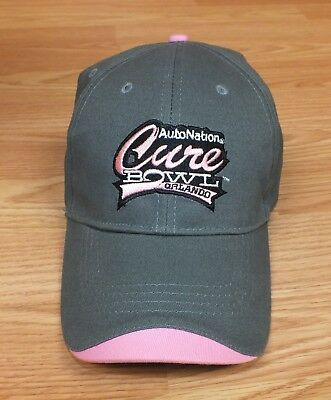 Autonation Cure Bowl Orlando Womens Pink And Gray Adjustable Hat   Read