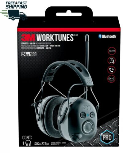 3M WorkTunes Connect AM/FM Hearing Protector with Bluetooth Wireless Technology