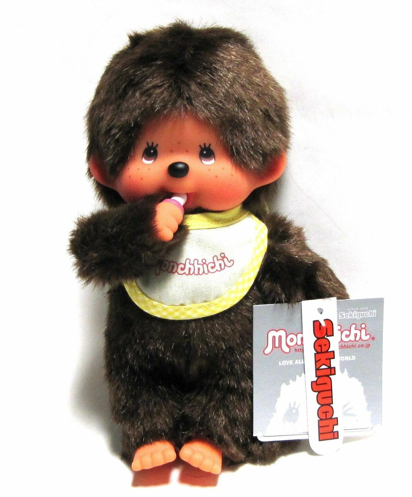 Sekiguchi Monchhichi Plush Bebichhichi Girl Standard Stuffed Doll 15cm Japan
