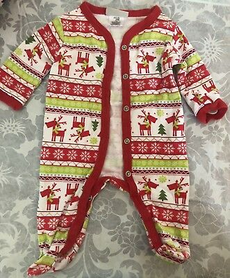 Chick pea baby girl footie 0-3M, Christmas theme