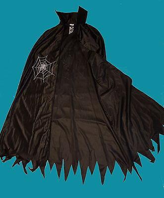 Hexen Cape (Damen Hexenkostüm bis Gr M,L XL Umhang Cape Zauberin Magierin Hexe Kostüm Spinne)