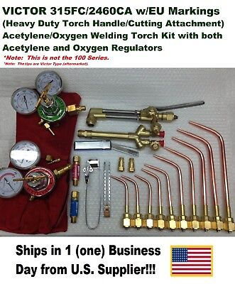 Victor 315fc Torch W2460 Cutting Attachment Regulators Welding Kit Setup
