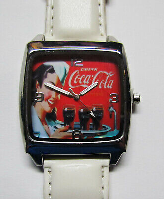 NEW Coca Cola Girl Coke Watch White Band Men's or Women's FREE SHIPPING ! ! !