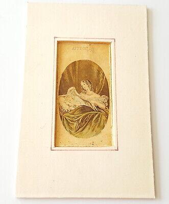 Antique 19th century Miniature print.