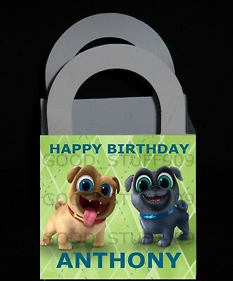 PUPPY DOG PALS 12 PERSONALIZED PARTY FAVORS SMALL BOXES  3 X 3 X 2.5 INCHES - Puppy Party Supplies