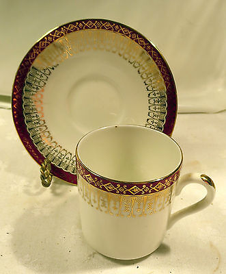 Royal Grafton Majestic Pattern Fine Bone China Demitasse Tea Cup & Saucer
