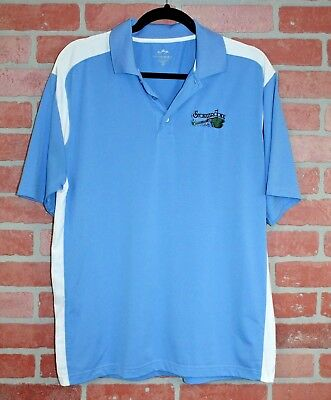 Mens Tri Mountain Performance Polo Golf Shirt Stonebrooke Country Club Sz Medium