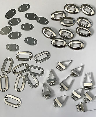 10 sets Metal Turn Clasp Lock DIY Handbag Bag Purse Hardware Twist Silver Lock C