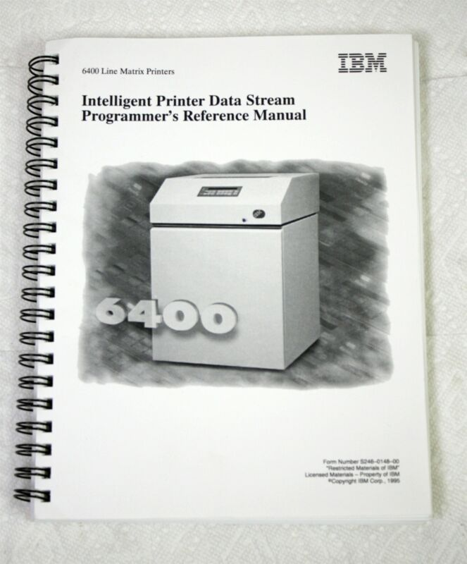 IBM 6400 Line Matrix Printer Intelligent Data Stream Programmer Reference Manual
