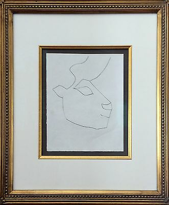 Pablo Picasso - Original Framed Engraving with Burin from the Carmen Suite, 1949