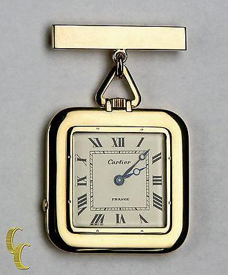 Cartier Oro Quadrato Antico Orologio da Tasca,29 Gioielli Ripetitore W/Originale