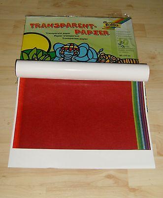 2 Hefte Transparentpapier je 10  A4  Drachenpapier  Transparentpapiermappe Mappe