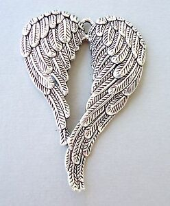 One Pendant Angel Wings Charm Dangle Antique Silver 1piece Jewelry findings DIY