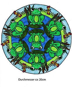 Window-color-finestra-immagine-immagine-froschmandala-313-Lavoro-a-Mano-Adesivi-Sticker