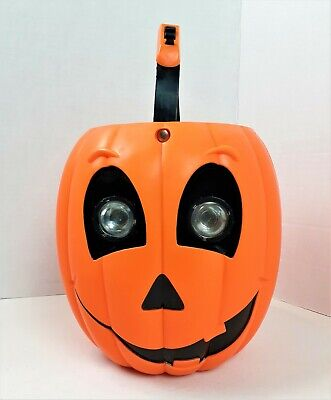 Monicore Light Up Pumpkin Vintage Candy Bucket 1998 Trick or Treat Please READ
