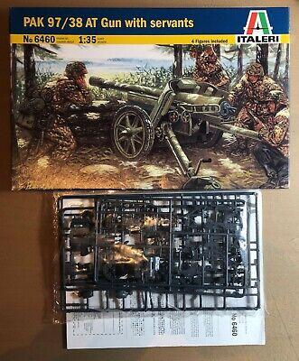 ITALERI 6460 PAK 97/38 AT GUN WITH SERVANTS 1/35 PLASTIC KIT NUOVO