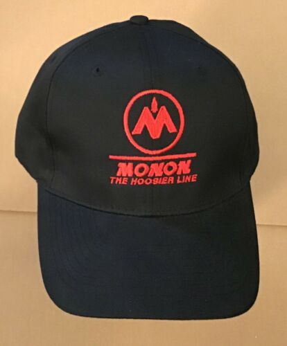 Monon The Hoosier Line Baseball Cap Black with Red