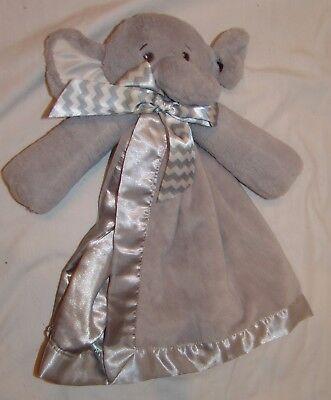 Bearington Baby Kollektion Grau Weiß Elefant Lovie Sicherheit Decke Gefüllte (Gefüllte Weiße Elefant)