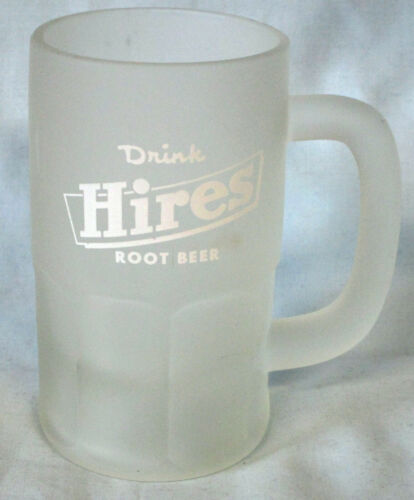 "Hires Frosted Mug 5 1/8"" With White Logo and 8 Panel"