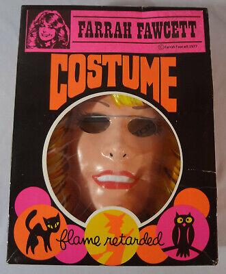 Farrah Fawcett Costume (1977 Vintage FARRAH FAWCETT Collegeville Costume Mask Medium Unused Nice!)