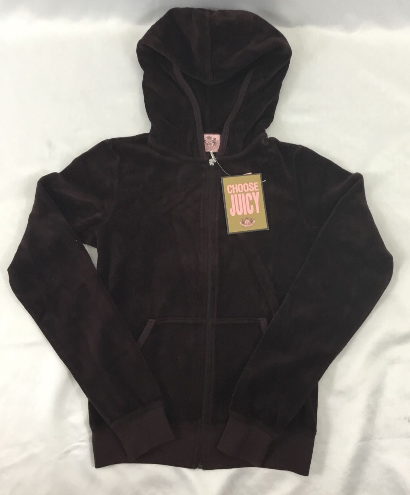 Juicy Couture Velour Hoodie Jacket Nut Cracker Purple Valley