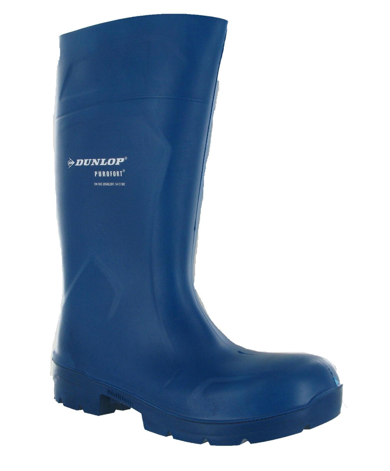 eac1e418367 Dunlop Purofort Food Pro Blue Multigrip S4 Safety Mens Wellington Boots  UK3-15