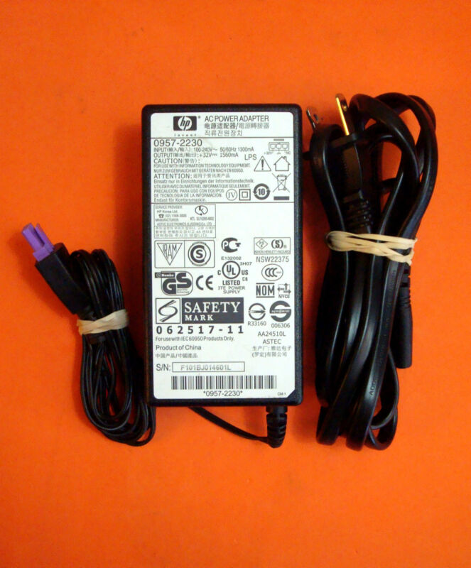 0957-2230 OEM GENUINE HP POWER ADAPTER WITH CORD FOR HP PRINTERS  A4.11